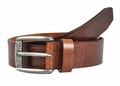 Levi's Brown Genuine Bridle Leather Belt w/ 2 Horse Logo Buckle