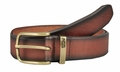 Levi's Genuine Bridle Leather Belt with Brass Buckle