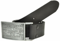 Levi's Genuine Leather Black Bridle Leather Belt w/ Plaque Buckle