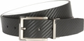 Nike Carbon Fiber Textured Reversible Black/White Leather Belt