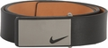 Nike Sleek Modern Plaque Leather Belt - Black
