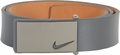 Nike Sleek Modern Plaque Leather Belt - Dark Grey