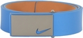 Nike Sleek Modern Plaque Leather Belt - Military Blue