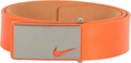 Nike Sleek Modern Plaque Leather Belt - Turf Orange