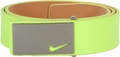 Nike Sleek Modern Plaque Leather Belt - Venom Green