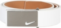 Nike Sleek Modern Plaque Leather Belt - White