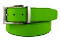 PGA TOUR Reversible Leather Golf Belt - Lime Green / White