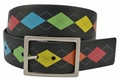 PGA Tour Reversible Silicone Golf Belt - Black/Argyle or Black | 3308500-931