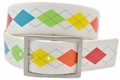PGA Tour Reversible Silicone Golf Belt - White/Argyle or White | 33008500-932