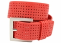 PGA TOUR Silicone Perforated Golf Belt - Red | 3301500-616