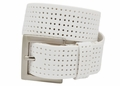 PGA TOUR Silicone Perforated Golf Belt - White | 3301500-100