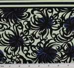 Cotton Lawn Black/Royal  D#7M134 Double Border