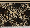Cotton Lawn Brown/Black  D#7M134 Double Border