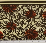 Cotton Lawn Off White/Rust  D#7M134 Double Border