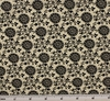 Cotton Lawn Print 6L166 Ivory/Black