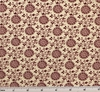 Cotton Lawn Print 6L166 Ivory/Burgundy