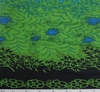 Cotton Voile Blue/Green/Navy Double Border Print 0H017