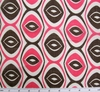 Cotton Voile Chocolate/Hot Pink Print 7M342