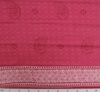 Cotton Voile Fuschia Print White Borders 9787