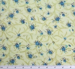 Cotton Voile Lime/Turquoise Print 2G061