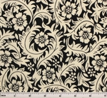 Cotton Lawn Print 6L165 Ivory/Black