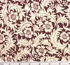 Cotton Lawn Print 6L165 Ivory/Burgundy