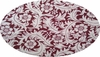 Cotton Voile Print <br> 6L165 Off White/Burgundy