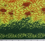 Cotton Voile Orange/Yellow/Green Double Border Print 0H017