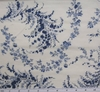 Cotton Voile Print 6L177 Off White/Blue