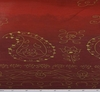 Cotton Voile Red/Gold Border Print 0H055