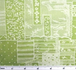 Cotton Voile Sage Print 1H320