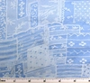 Cotton Voile Sky Blue Print 1H320