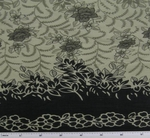 Cotton Voile Taupe/Tan/Black Double Border Print 0H017