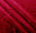 Crushed Panne Velour Cherry Wine Width 58/60""