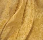 Crushed Panne Velour Dark Gold Width 58/60""