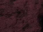 Crushed Panne Velour Eggplant Width 58/60""