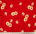 """Rayon Crinkle 1D566 Red/Ivory Width 52/54"""""""