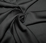 Rayon Sateen Stretch Solid Black Width 53/54�