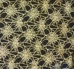 Spider Web Lace Black/Gold Width 58/60""