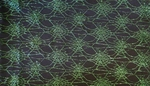 Spider Web Lace Black/Green  58/60""