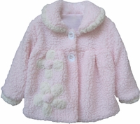 Isobella and Chloe Marshmallow Pink Coat