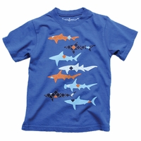 Wes and Willy Argyle shark tee