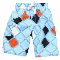 Wes and Willy Argyle swim trunk