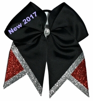 NEW 2017 Black with Glitter Silver and Red