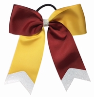New 6 Inch Maroon and Yellow Gold with Glitter Tip
