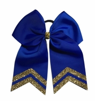 New 6 Inch Royal Blue with Old Gold Glitter Tips