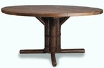 "Old Hickory 42"" Pedestal Table"