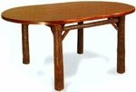 "Old Hickory 42"" x 84"" Old Faithful Dining Room Table - Oval"