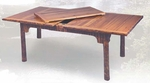 Old Hickory Extension Table w/Bark Trim Apron