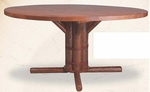 "Old Hickory 36"" Pedestal Table"